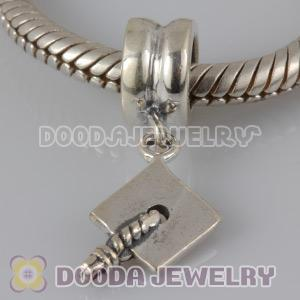 925 Sterling Silver Charm Jewelry Dangle Bachelor Cap Beads