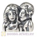 Sterling Silver European Middle Aged Couples Anniversary Bead