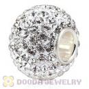 10X13 Big Charm Beads with 130pcs Austrian Crystal in 925 Sterling Silver Single Core
