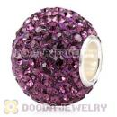 10X13 Big Charm Beads With 130pcs Amethyst Austrian Crystal 925 Silver Core