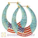 Cheap 76X90mm Basketball Wives Bamboo Crystal The Old Glory Earrings