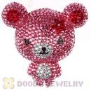 Cute 3D Bling Crystal Teddy Bear Absorbable Doll For iPhone Cases Wholesale