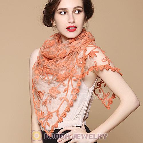 Bamboo Clothing Wholesale Europe: Urban Retro Style Classic Openwork Lace Pashmina Scarves