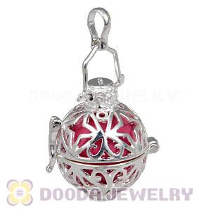 Silver plated harmony ball pendant with chime ball wholesale fashion 18mm harmony chime ball in silver plated filigree cage pendant wholesale aloadofball Image collections
