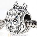 Antique Sterling Silver King of the Jungle Lion Charm Beads European Style