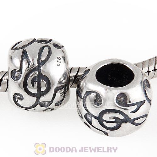 Ready to Ship Silver Music Note Charm for European BraceletsLarge Hole BeadCharm