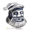 925 Sterling Silver European Style Santa Claus Christmas day Beads