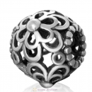 Picking Daisies Charm Antique 925 Sterling Silver Bead