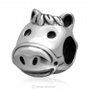 925 Sterling Silver Cute Horse Animal Charm Bead