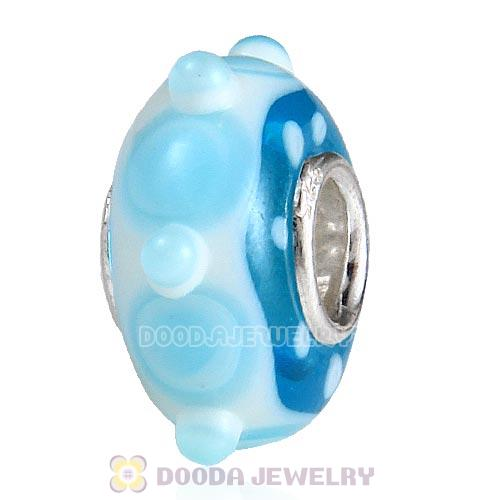 lampwork glass beads 925 sterling silver core suit European style jewelry