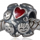 European Style Limited Family Ties Charm Silver Beads Enamel Red Hot Love