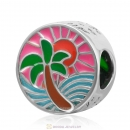 Tropical Sunset Charm Mixed Enamel Beads