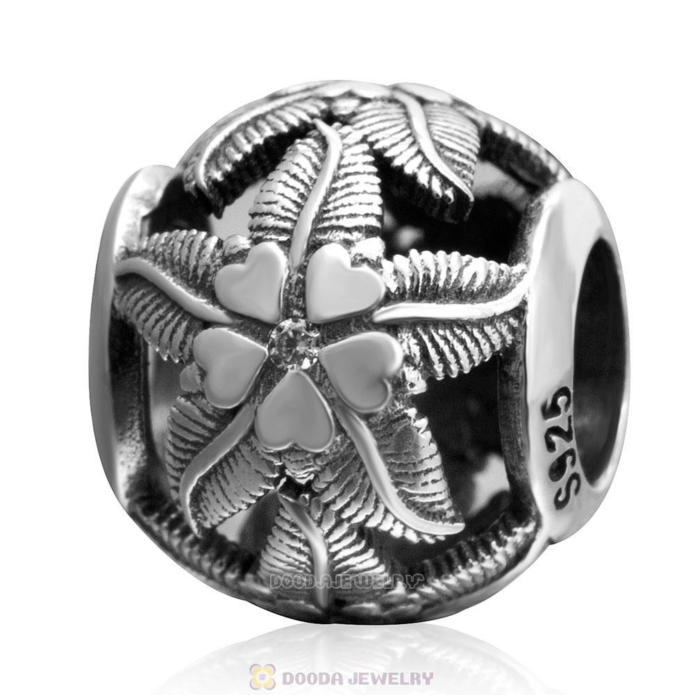 Starfish Charm Antique 925 Sterling Silver