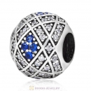 Geometric Charm 925 Sterling Silver with Sapphire Zircon