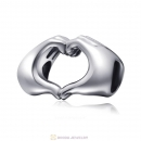 Fingers with Hearts Charms 925 Sterling Silver
