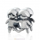 S925 Sterling Silver European Style Boy and Girl Beads