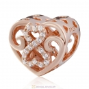 Rose Gold Love and Romance Charm