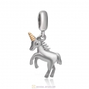 Dangle Unicorn Charms with Gold Plated