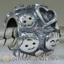 European 79487 EN09 Silver and Red Enamel Family Ties Charm Beads