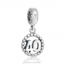 Number 40 Dangle Charm
