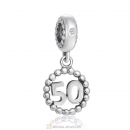 Number 50 Dangle Charm