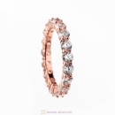 Rose Gold Plated Zircon Band Ring