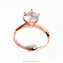 Rose Gold Elegance Zircon Ring