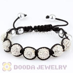 Fashion handmade Bracelets Wholesale with Silver and Crystal Disco Beads