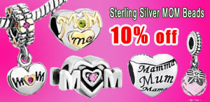 2015 mom love Sterling Silver Beads